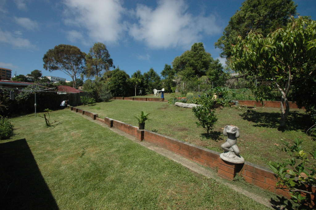Back yard at Creek St River House. A pet friendly accommodation beach house with dog friendly beaches for your holiday at Nambucca Heads near Valla Beach, Mid North Coast NSW
