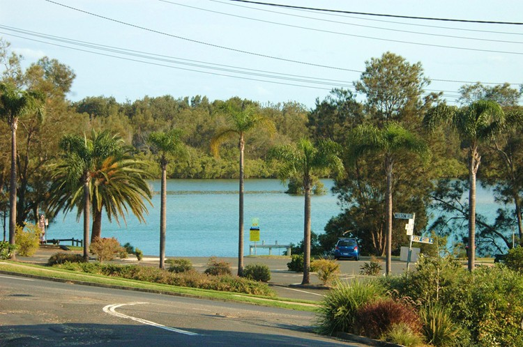 Nambucca River view from Creek St River House. A pet friendly accommodation beach house with dog friendly beaches for your holiday at Nambucca Heads near Valla Beach, Mid North Coast NSW
