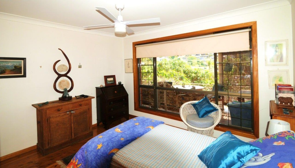Bedroom at Creek St River House. A pet friendly accommodation beach house with dog friendly beaches for your holiday at Nambucca Heads near Valla Beach, Mid North Coast NSW