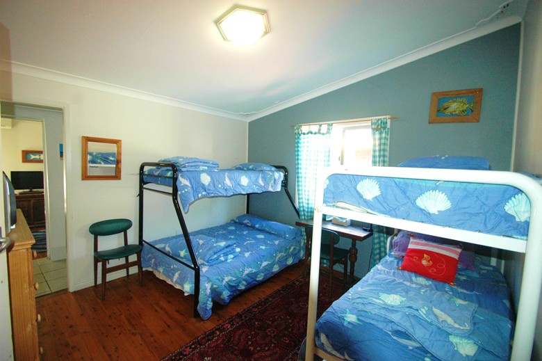 Kids bedroom at Copa Shells Beach House - A pet friendly holiday accommodation beach house with dog friendly beaches at Copacabana Beach on the Central Coast NSW
